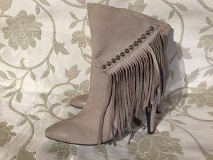 ღ Z a n o n & Z a g o nude Blogger Style Fransen Leder Boots Nieten Gr. 40 ღ