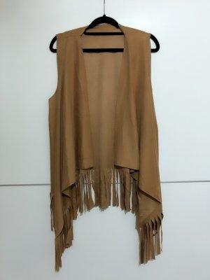 Fringed Vest bronze-colored