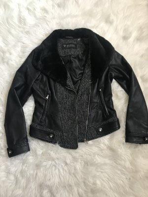 Guess Faux Leather Jacket multicolored imitation leather