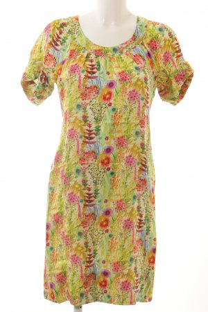 0039 Italy A-Linien Kleid Blumenmuster Romantik-Look