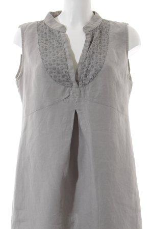 0039 Italy A-Linien Kleid grau florales Muster Casual-Look
