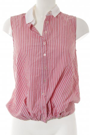 0039 Italy Sleeveless Blouse striped pattern casual look