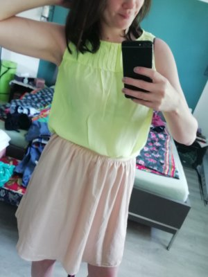 0039 Italy Blouse Top neon yellow