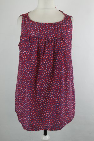 0039 Italy Bluse Gr. XS rot blau Muster