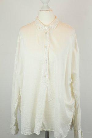 0039 Italy Bluse Hemd Gr. XS weiß oversized