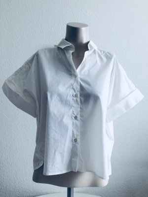 0039 Italy Short Sleeve Shirt white cotton