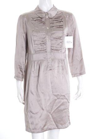 0039 Italy Blusenkleid beige Glanz-Optik