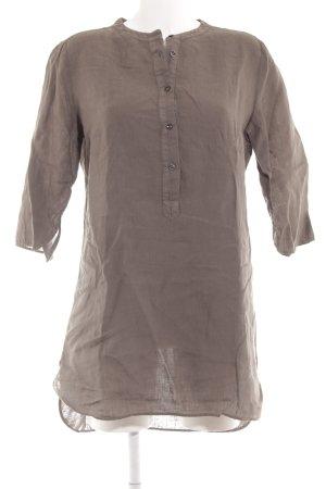 0039 Italy Blusenkleid grüngrau Casual-Look