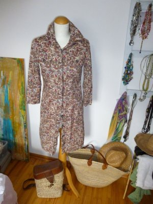 0039 Italy Blusenkleid Kleid Longbluse Gr. S