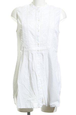 0039 Italy Blusenkleid weiß Spitzen-Optik