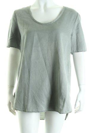 0039 Italy Blusentop graugrün schlichter Stil