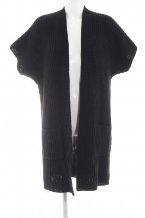 0039 Italy Cardigan schwarz Business-Look