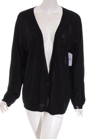 0039 Italy Cardigan schwarz Casual-Look