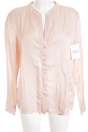 0039 Italy Blusa brillante color oro rosa effetto bagnato