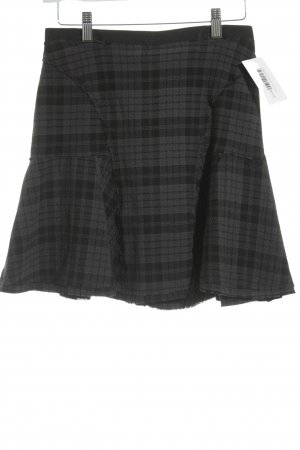 0039 Italy Flared Skirt check pattern college style