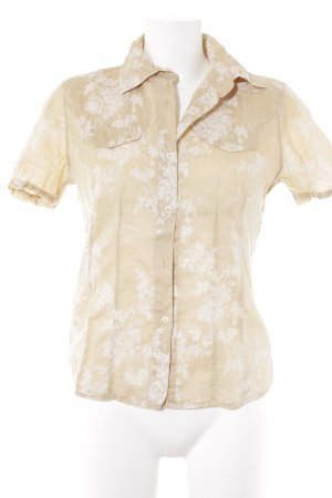 0039 Italy Hawaiian Shirt cream-white floral pattern casual look