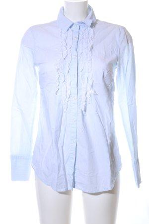 0039 Italy Hemd-Bluse blau Elegant