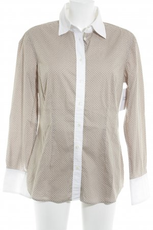 0039 Italy Shirt Blouse beige-white spot pattern retro look