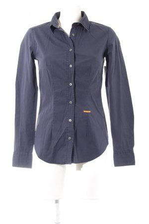 0039 Italy Shirt Blouse dark blue business style