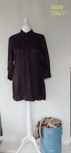 0039 ITALY, Hemd Bluse, dunkelbraun, Gr.L