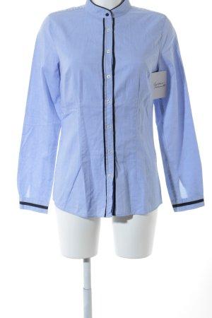 0039 Italy Hemd-Bluse himmelblau-schwarz Business-Look