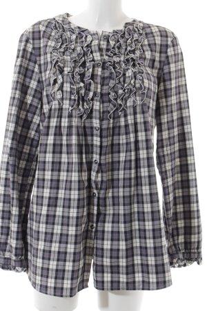 0039 Italy Hemd-Bluse Karomuster klassischer Stil