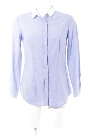 0039 Italy Hemd-Bluse kornblumenblau Business-Look