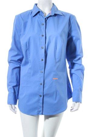 0039 Italy Hemd-Bluse kornblumenblau Casual-Look