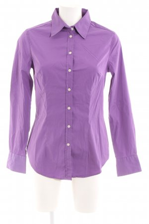 0039 Italy Hemd-Bluse lila Business-Look