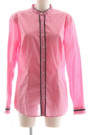 0039 Italy Hemd-Bluse rosa Karomuster Casual-Look