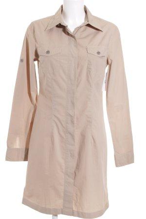 0039 Italy Hemdblusenkleid beige Safari-Look