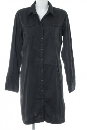 0039 Italy Hemdblusenkleid schwarz Casual-Look
