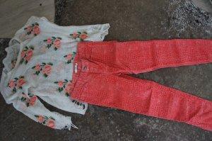 0039 ITALY Hose Skinny Größe XS 34 + Pullover
