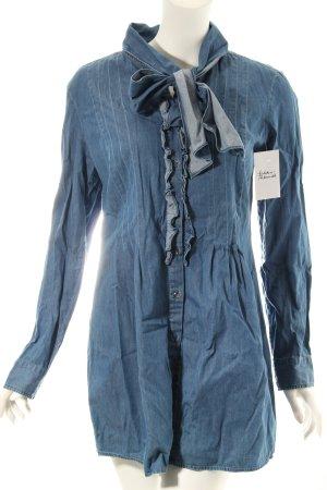 0039 Italy Jeansbluse blau klassischer Stil