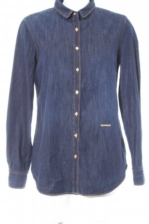 0039 Italy Spijkershirt donkerblauw casual uitstraling