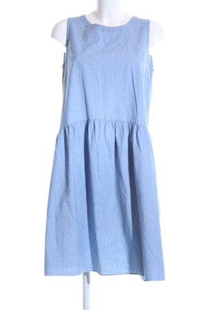 0039 Italy Jeanskleid blau meliert Casual-Look