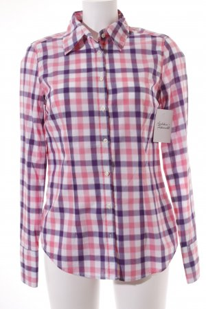 0039 Italy Checked Blouse check pattern casual look