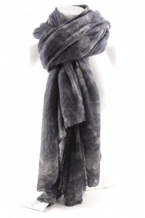 0039 Italy Écharpe en cachemire gris-gris ardoise motif tache de couleur