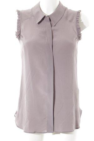 0039 Italy Kurzarm-Bluse blasslila Elegant