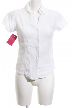 0039 Italy Short Sleeved Blouse white classic style