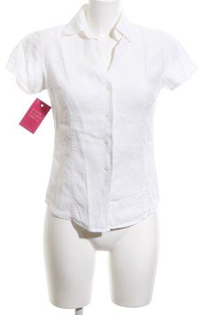 0039 Italy Blouse à manches courtes blanc style classique