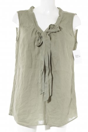 0039 Italy Short Sleeved Blouse khaki casual look