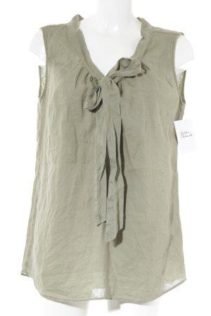 0039 Italy Kurzarm-Bluse khaki Casual-Look