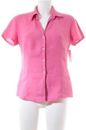 0039 Italy Kurzarm-Bluse rosa Elegant
