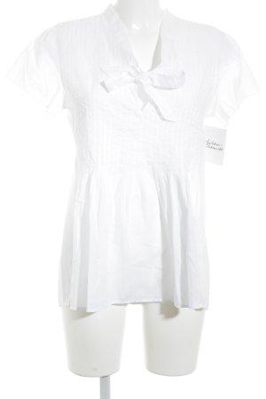 0039 Italy Kurzarm-Bluse weiß Casual-Look
