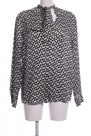 0039 Italy Long Sleeve Blouse white-black spot pattern business style