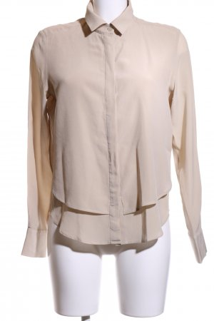 0039 Italy Langarm-Bluse creme Business-Look