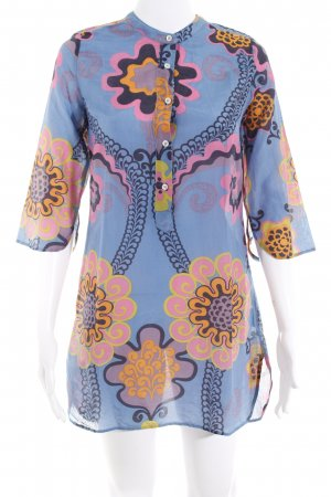 0039 Italy Langarm-Bluse abstraktes Muster Boho-Look