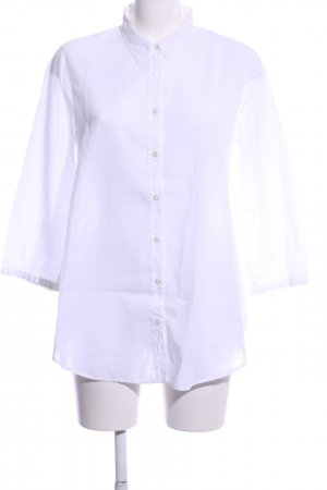 0039 Italy Langarm-Bluse weiß Business-Look