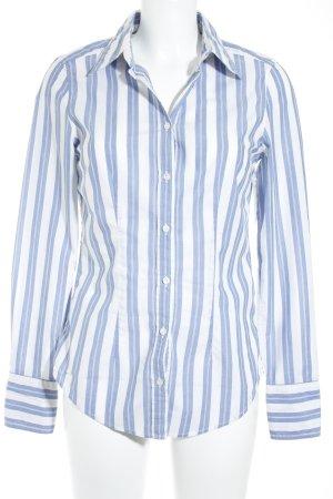 0039 Italy Langarm-Bluse blau-weiß Streifenmuster Casual-Look